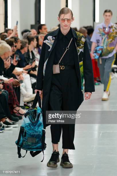 Ilja Sizov walks the runway during the Valentino Menswear Spring Summer 2020 show as part of Paris Fashion Week on June 19, 2019 in Paris, France.