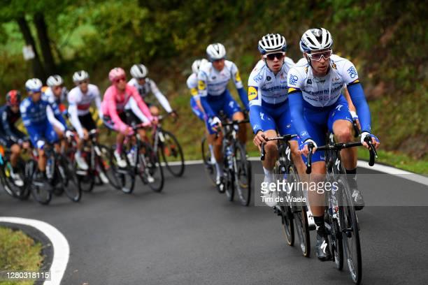 Iljo Keisse of Belgium and Team Deceuninck - Quick-Step / Alvaro Jose Hodeg Chagui of Colombia and Team Deceuninck - Quick-Step / during the 103rd...