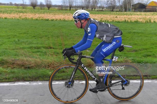 Iljo Keisse of Belgium and Team Deceuninck - Quick-Step / during the 75th Omloop Het Nieuwsblad 2020, Men Race a 200km race from Ghent to Ninove /...
