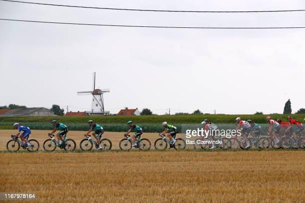 Iljo Keisse of Belgium and Team DeceuninckQuickStep / Marcus Burghardt of Germany and Team BoraHansgrohe / JeanPierre Drucker of Luxembourg and Team...