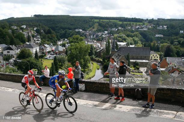 Iljo Keisse of Belgium and Team Deceuninck-QuickStep / Stan Dewulf of Belgium and Team Lotto Soudal / Public / Fans / Houffalize Village / during the...