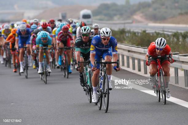 Iljo Keisse of Belgium and Team Quick Step Floors / Jay Mccarthy of Australia and Team Bora-Hansgrohe / Koen De Kort of The Netherlands and Team...
