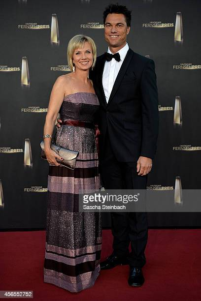 Ilka Essmueller and Boris Buettner arrive at the Deutscher Fernsehpreis 2014 at Coloneum on October 2 2014 in Cologne Germany