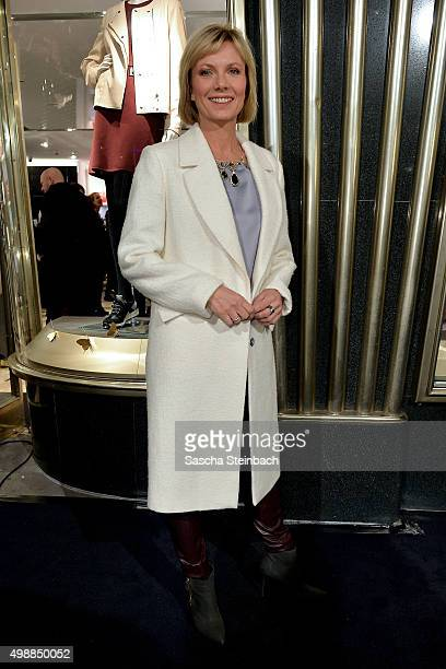 Ilka Essmueller attends the Longchamp store opening on November 26 2015 in Cologne Germany