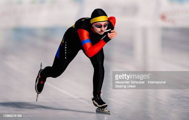 Ilka Fuzesy of Romania performs in the Ladies 1000m sprint race during the ISU Junior World Cup Speed Skating Final day 1 on February 9 2019 in...