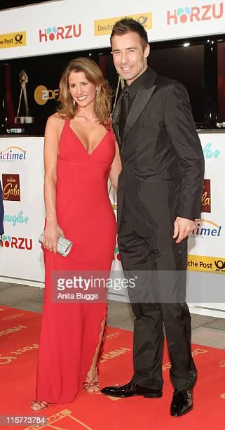 Ilka Pflaume and Kai Pflaume during 2007 Die Goldene Kamera Awards Arrivals at AxelSpringerVerlag in Berlin Germany