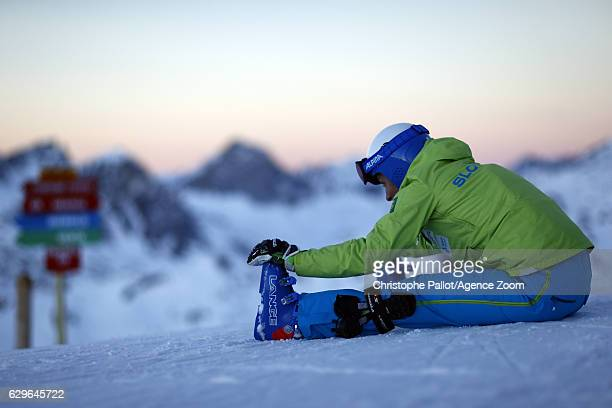 Ilka Stuhec of Slovenia A general view during the Audi FIS Alpine Ski World Cup Women's Downhill Training on December 14 2016 in Vald'Isere France