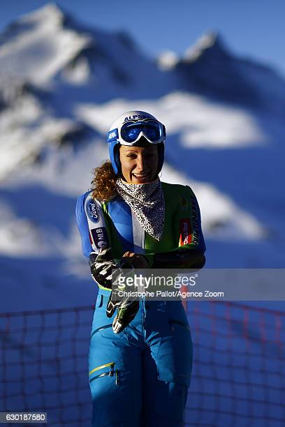 Ilka Stuhec of Slovenia A general view during the Audi FIS Alpine Ski World Cup Women's SuperG on December 18 2016 in Vald'Isere France