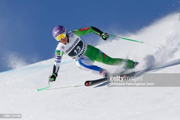 Ilka Stuhec of Slovenia competes during the Audi FIS Alpine Ski World Cup Women's Super G on December 8 2018 in St Moritz Switzerland