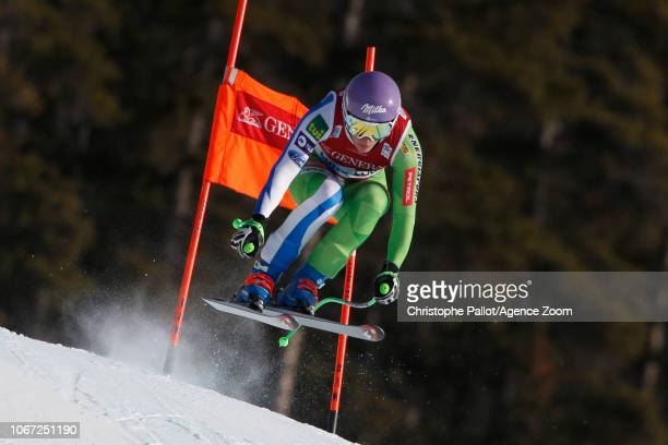 Ilka Stuhec of Slovenia in action during the Audi FIS Alpine Ski World Cup Women's Downhill on December 1 2018 in Lake Louise Canada