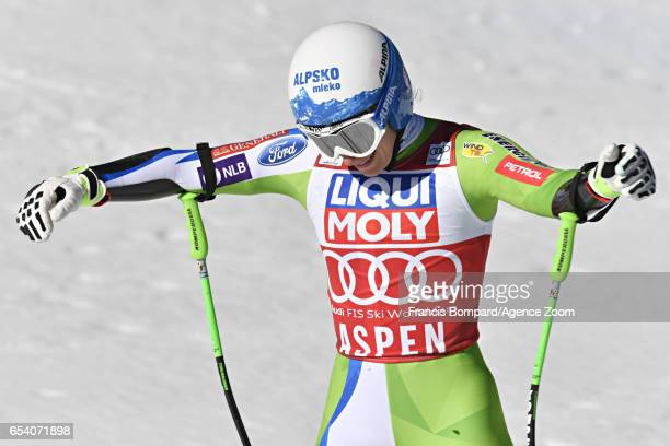 Ilka Stuhec of Slovenia takes 2nd place during the Audi FIS Alpine Ski World Cup Finals Women's and Men's SuperG on March 16 2017 in Aspen Colorado