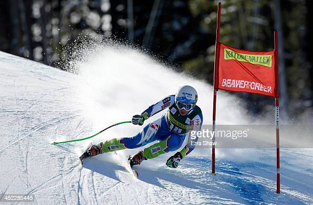 Ilka Stuhec of Slovokia in action during day 2 of training on Raptor for the FIS Beaver Creek Ladies Downhill World Cup on November 27 2013 in Beaver...
