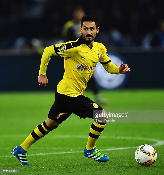 Ilkay Gündogan of Dortmund in action during the DFB Cup semi final match between Hertha BSC Berlin and Borussia Dortmund at the Olympic stadium on...