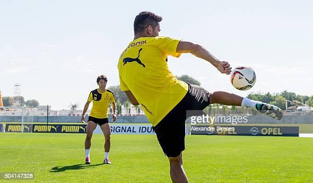 Ilkay Guendogan during a training session of the Borussia Dortmund training camp at Dubai Nad Al Sheba Sports Complex on January 9 2016 in Dubai...