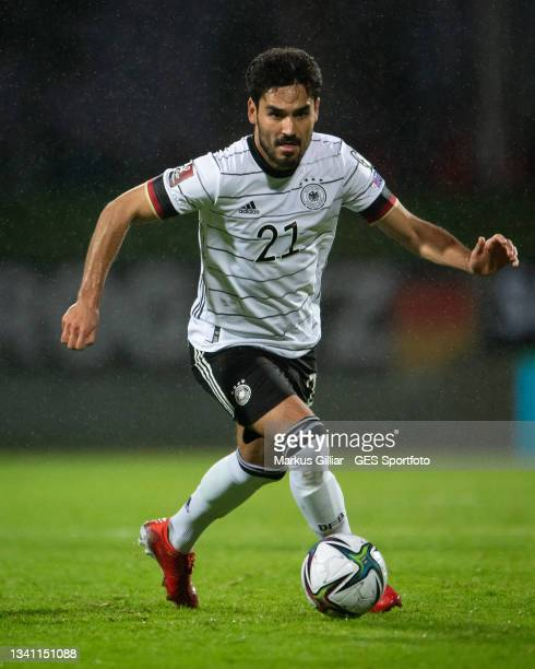 Ilkay Guendogan of Germany controls the ball during the 2022 FIFA World Cup Qualifier match between Iceland and Germany at on September 08, 2021 in...