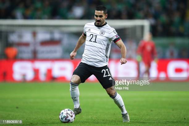 Ilkay Guendogan of Germany controls the ball during the UEFA Euro 2020 Qualifier between Germany and Northern Ireland at Commerzbank Arena on...