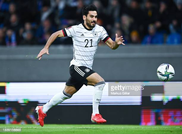 Ilkay Guendogan of Germany during the 2022 FIFA World Cup Qualifier match between Iceland and Germany at on September 08, 2021 in Reykjavik, .