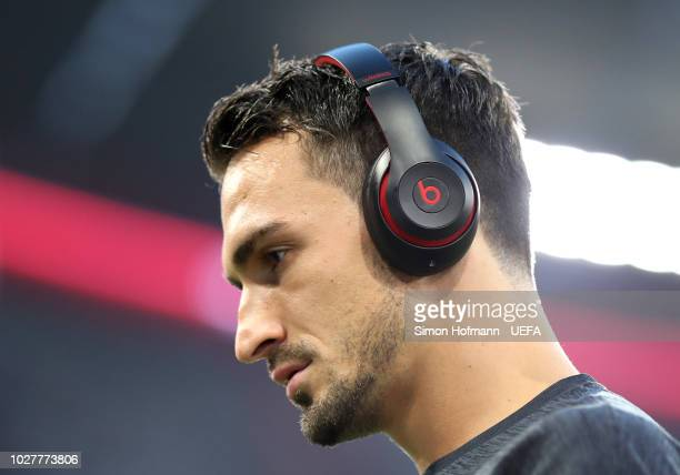 Ilkay Gundogan of Germany arrives at the stadium prior to the UEFA Nations League Group A match between Germany and France at Allianz Arena on...