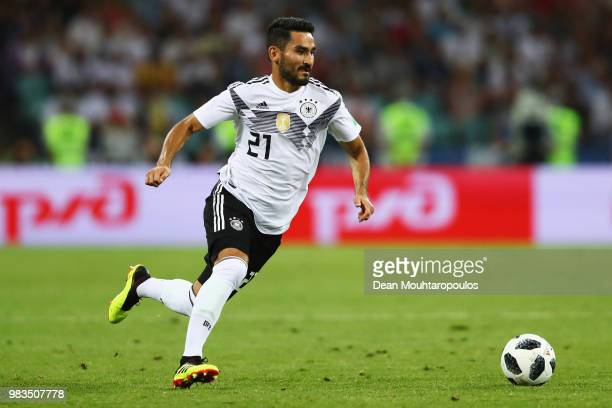 Ilkay Gundogan of Germany in action during the 2018 FIFA World Cup Russia group F match between Germany and Sweden at Fisht Stadium on June 23 2018...