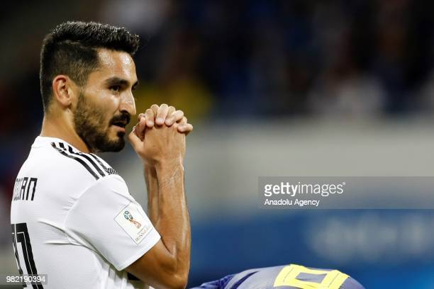 Ilkay Gundogan of Germany is seen during the 2018 FIFA World Cup Russia Group F match between Germany and Sweden at the Fisht Stadiumin Sochi Russia...