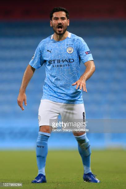 Ilkay Gundogan of Man City celebrates their victory during the UEFA Champions League round of 16 second leg match between Manchester City and Real...