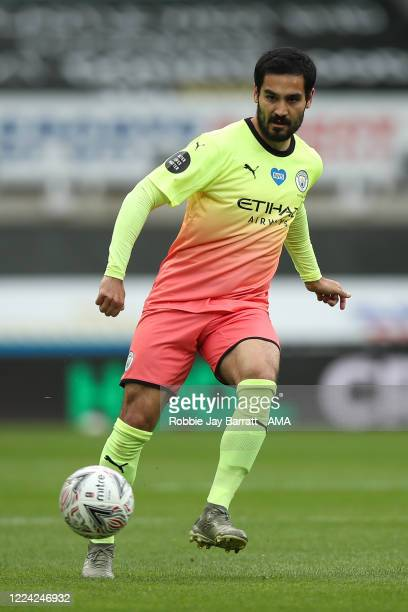Ilkay Gundogan of Manchester City during the FA Cup Quarter Final match between Newcastle United and Manchester City at St James Park on June 28 2020...