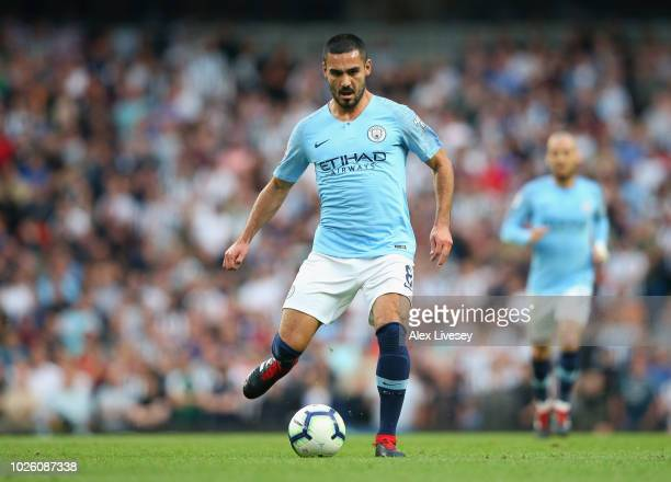 Ilkay Gundogan of Manchester City during the Premier League match between Manchester City and Newcastle United at Etihad Stadium on September 1 2018...