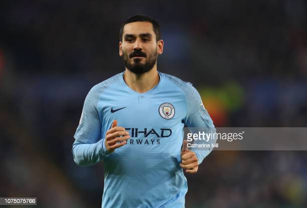 Ilkay Gundogan of Manchester City during the Premier League match between Leicester City and Manchester City at The King Power Stadium on December 26...