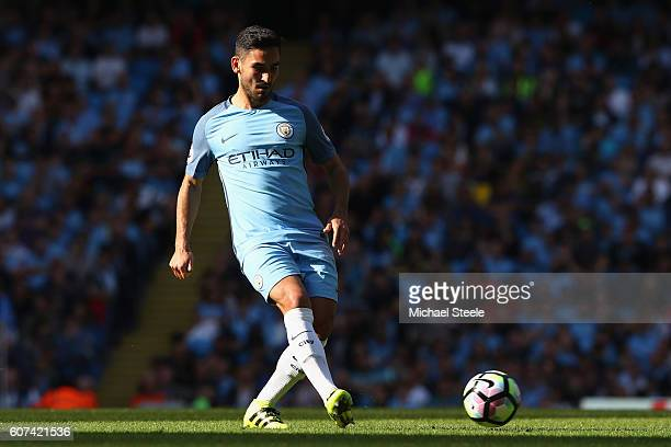 Ilkay Gundogan of Manchester City during the Premier League match between Manchester City and AFC Bournemouth at Etihad Stadium on September 17 2016...