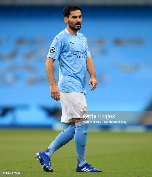 Ilkay Gundogan of Manchester City during the UEFA Champions League round of 16 second leg match between Manchester City and Real Madrid at Etihad...