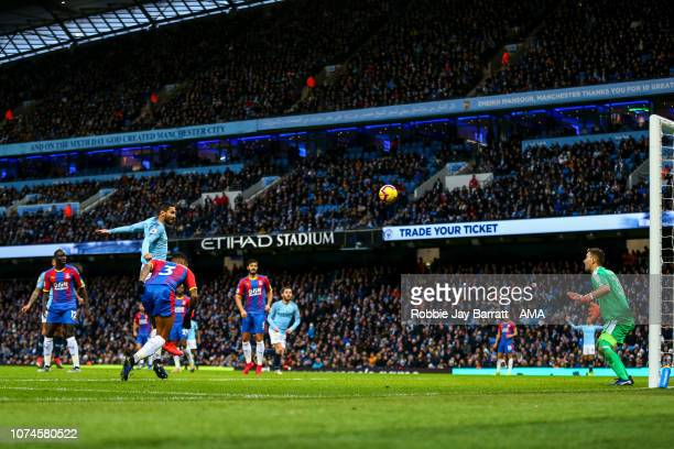 Ilkay Gundogan of Manchester City scores a goal to make it 10 during the Premier League match between Manchester City and Crystal Palace at Etihad...