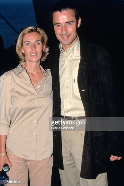 Ilke Pflaume and Kai Pflaume attend the Rolling Stones Concert in Munich in July 1999 in Munich Germany