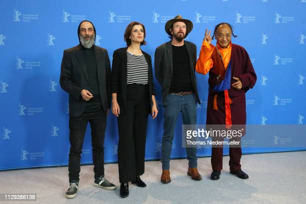 "Ilker Abay, Eva-Maria Lemke, Uli M Schueppel and Lama Gelek Ngawang pose at the ""The Breath"" photocall during the 69th Berlinale International Film..."