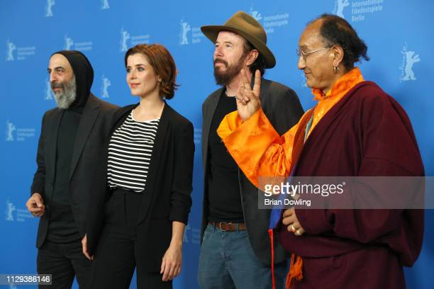 Ilker Abay EvaMaria Lemke Uli M Schueppel and Lama Gelek Ngawang pose at the The Breath photocall during the 69th Berlinale International Film...