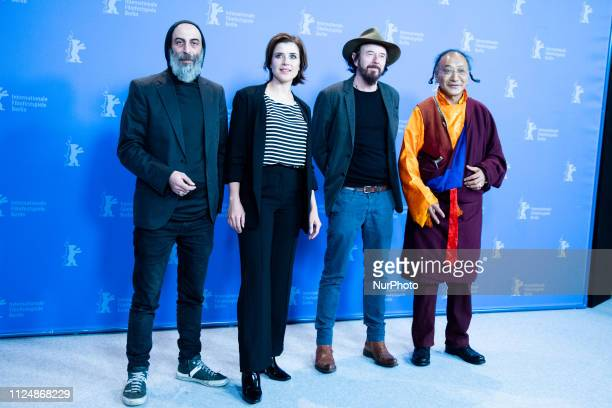 Ilker Abay EvaMaria Lemke Uli M Schueppel and Lama Gelek Ngawang attends the 'The Breath'' photocall during the 69th Berlinale International Film...
