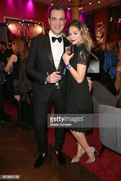 Ilkin Demirel and his wife Sarah Demirel during the BUNTE BMW Festival Night 2018 on the occasion of the 68th Berlinale International Film Festival...