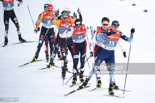 Ilkka Herola of Finland in action, takes 2nd place during the FIS Nordic World Ski Championships Men's Nordic Combined Gundersen Normal Hill...