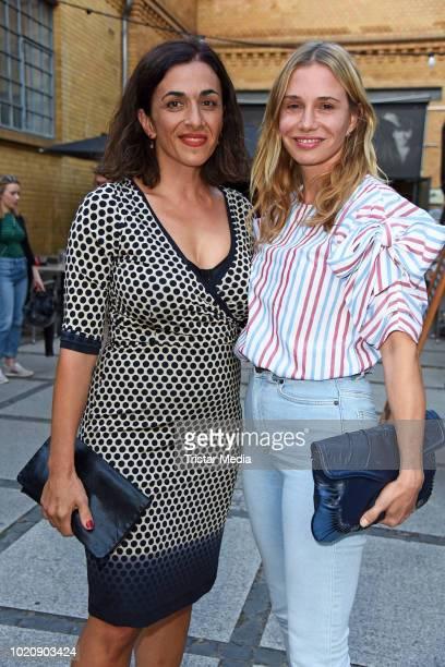 Ilknur Boyraz and Nadeshda Brennicke during the ''Asphaltgorillas' premiere at Kino in der Kulturbrauerei on August 21 2018 in Berlin Germany
