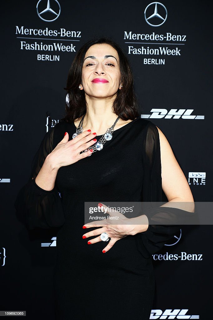 Ilknur Boyraz attends Miranda Konstantinidou Autumn/Winter 2013/14 fashion show during Mercedes-Benz Fashion Week Berlin at Brandenburg Gate on January 18, 2013 in Berlin, Germany.