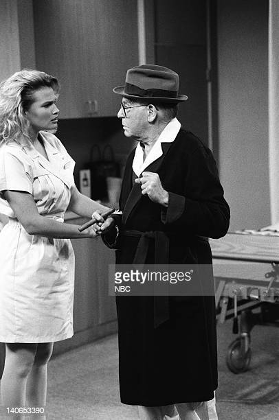 AIR Ill Will Episode 18 Pictured Kathleen McClellan as Nurse Bonnie Milton Berle as Max Jakey Photo by Mike Ansell/NBCU Photo Bank