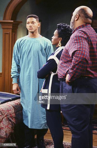 AIR 'Ill Will' Episode 18 Pictured Will Smith as William 'Will' Smith Janet Hubert as Vivian Banks James Avery as Philip Banks Photo by Mike...