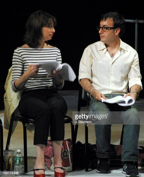 Illeana Douglas and Michael Paines during Reading of the Screenplay 'Adam and Steve' at Primary Stages in New York City New York United States