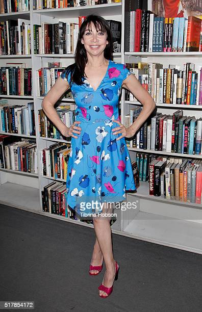 Illeana Douglas attends her book reading for 'I Blame Dennis Hopper' at Larry Edmunds Bookshop on March 26 2016 in Hollywood California