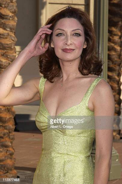 Illeana Douglas during 2002 Creative Arts Emmy Awards Arrivals at Shrine Auditorium in Los Angeles California United States
