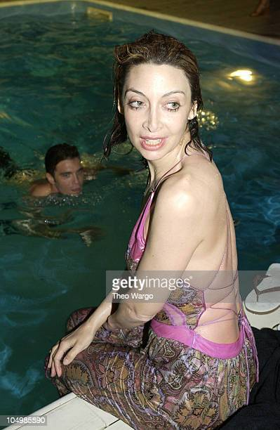 Illeana Douglas during Cynthia Rowley Fashion Show at the PlayStation 2 House at PlayStation 2 House in Sag Harbor New York United States