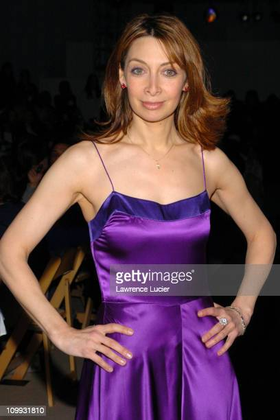 Illeana Douglas during Olympus Fashion Week Fall 2004 Cynthia Rowley at Bryant Park in New York City New York United States