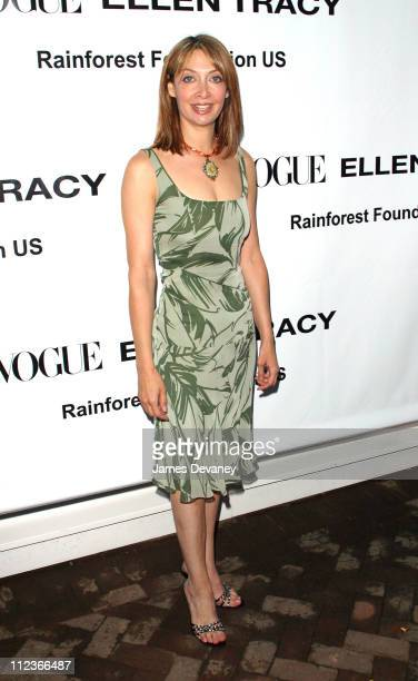 Illeana Douglas during Vogue and Ellen Tracy Throw Party to Benefit the Rainforest Foundation US at The Boat House in Central Park in New York City...