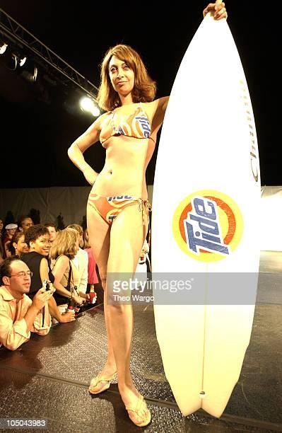 Illeana Douglas modeling Cynthia Rowley's Tide swimwear