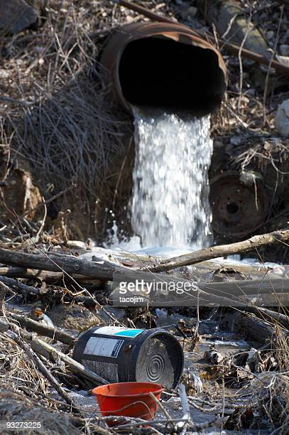 illegal dumping - ditch stock photos and pictures