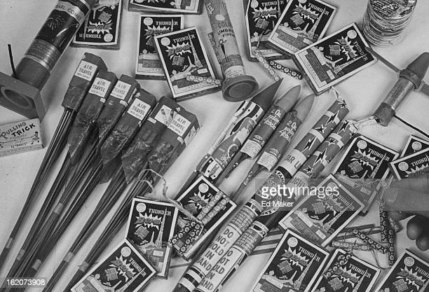 JUN 28 1977 JUN 29 1977 Illegal Fireworks Sol Openly Rockets roman candles firecrackers can be bought through loophole in law